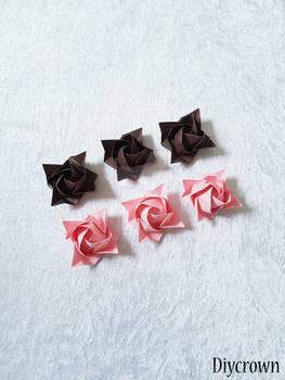 Origami Kawasaki Rose Video Tutorial   Origami rose, Flower ...   350x263