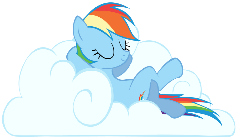 Rainbow Dash On A Cloud P By Da Sonic Rainboom