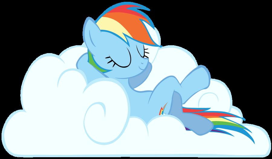 Rainbow Dash On A Cloud P By Da Sonic Rainboom
