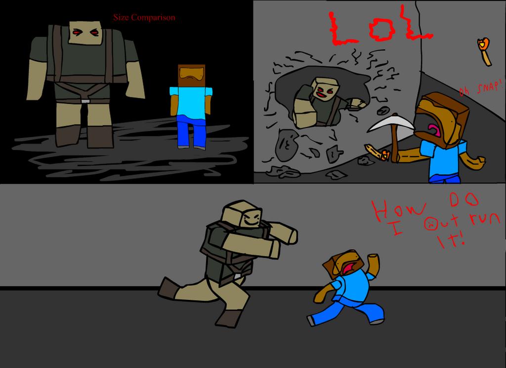 Minecraft mob idea: The Hulk by Tomanator490