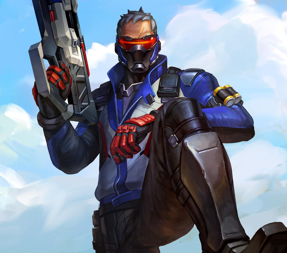 Soldier 76 by largee17