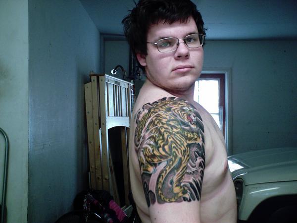My Tiger Tattoo on my arm