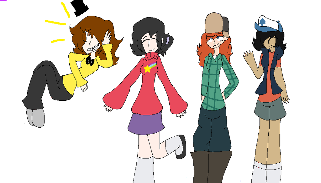 Some of my friends and me as Gf characters by Bonnieart04