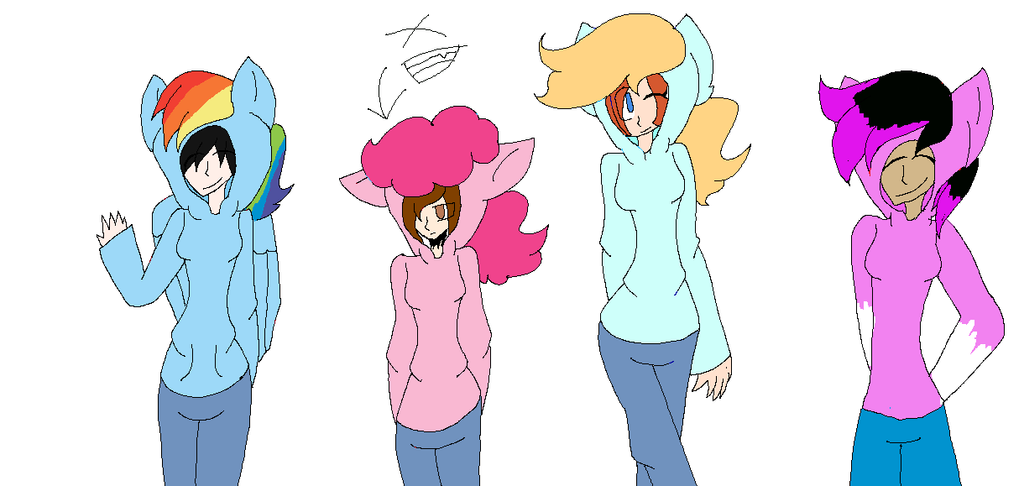 Some of my friends and as Mlp Charatcr or Ocs by Bonnieart04