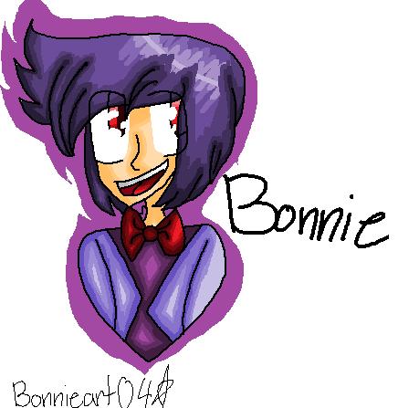 Bonnie as a human by Bonnieart04