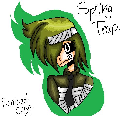 Springtrap as a human. by Bonnieart04