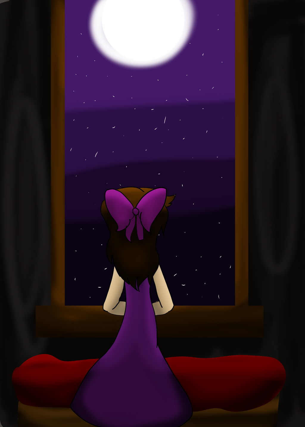 Under the moonlight by Bonnieart04
