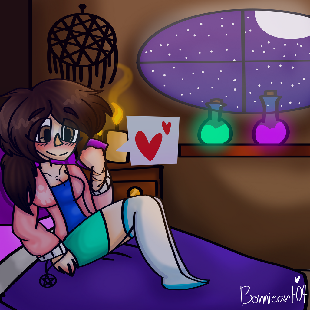 A witch's room by Bonnieart04