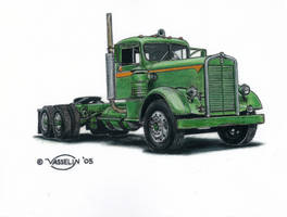 Kenworth truck drawing by who515