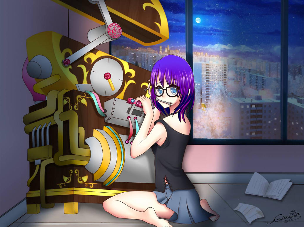 girl and the time machine by SrtaGiuu
