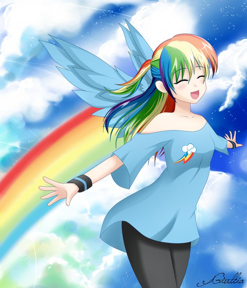 Rainbow Dash 'o' by SrtaGiuu