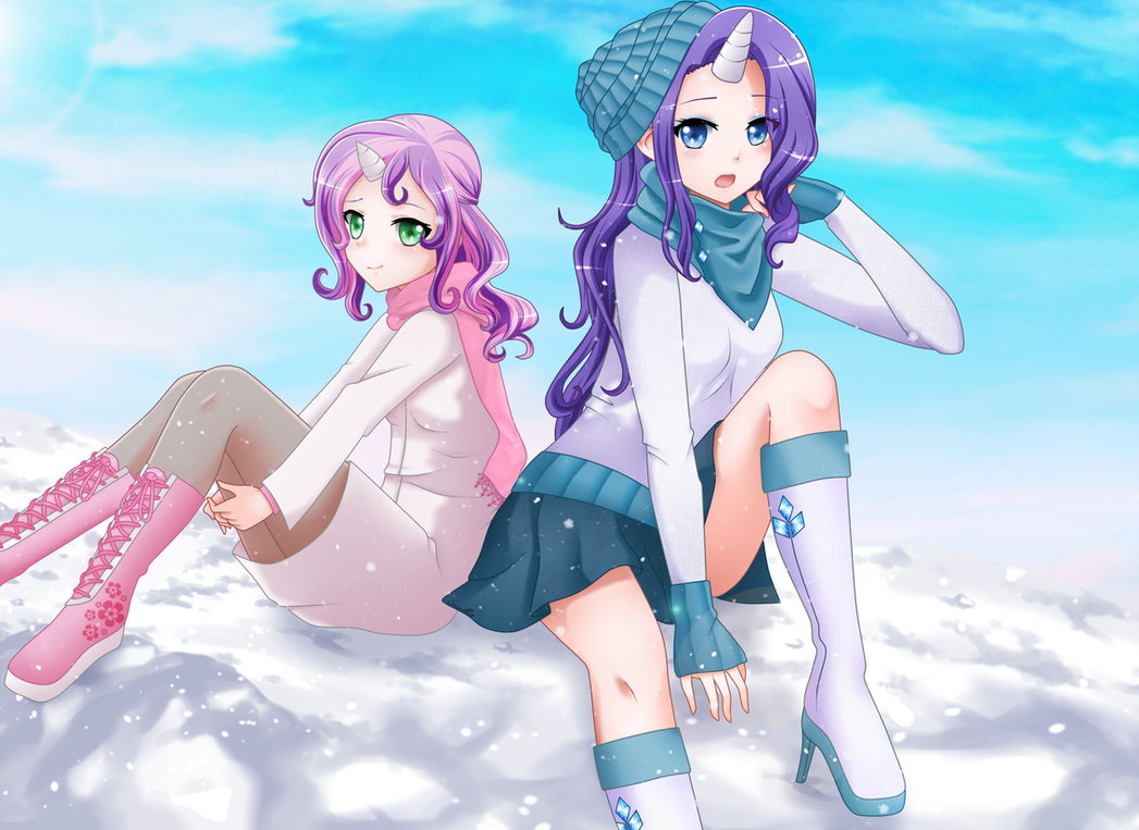 Sweetie Belle and Rarity by SrtaGiuu
