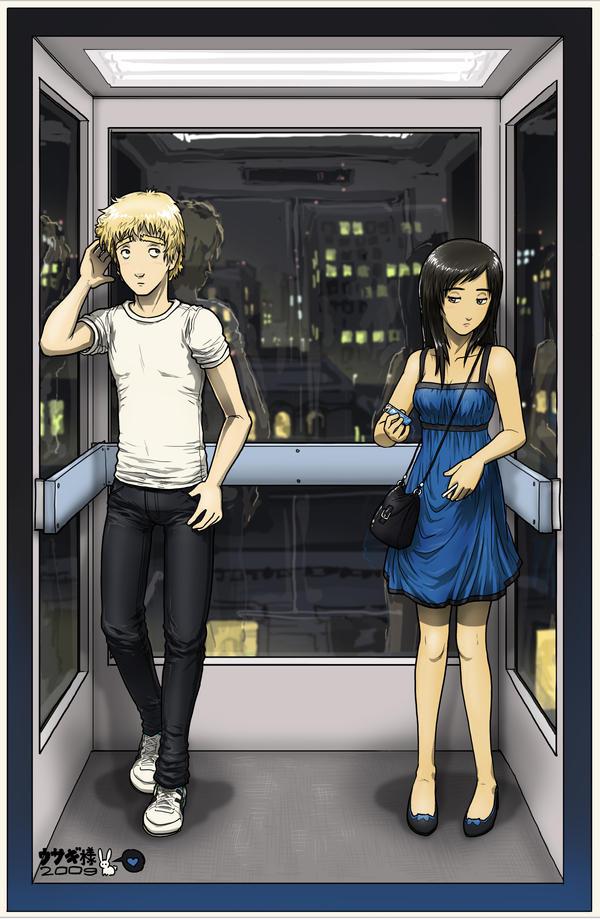 Аниме в лифте фото 575-457