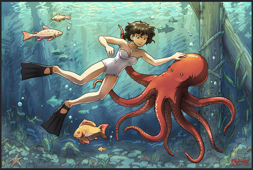 Octopus and Girl