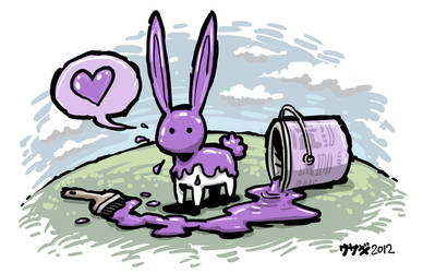 Spirit Day: Purple Painted Bunny