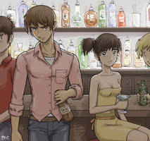 Night of Drinking by Usagisama