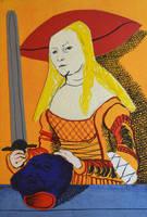 Judith with the head of Holofernes by DawidZdobylak