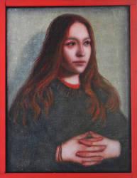 Portrait of Kasia in the renaissance style by DawidZdobylak