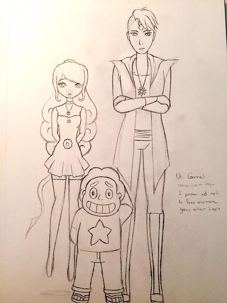 Steven Universe OC: Meet Moonstone and Sunstone by Vampiredoll172