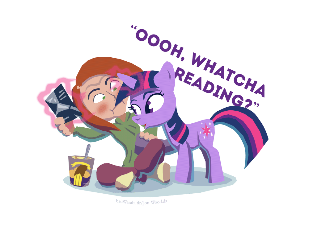 Mlp ooh whatcha reading by jon wood
