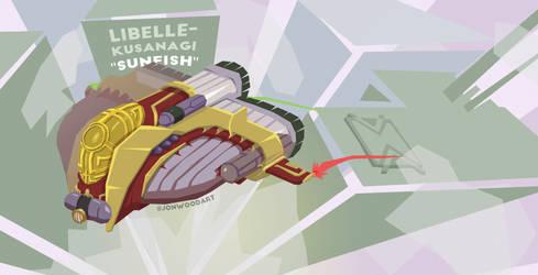 Libelle-Kusanagi 'Sunfish' LK-63TA spaceship