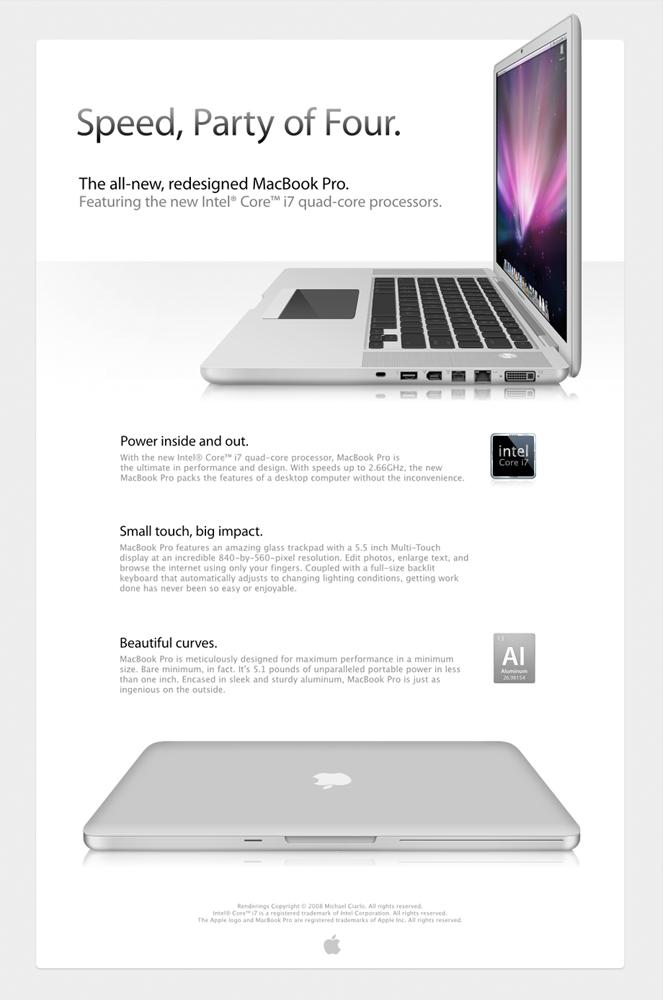 MacBook Pro 2008 Concept by halfwayglad
