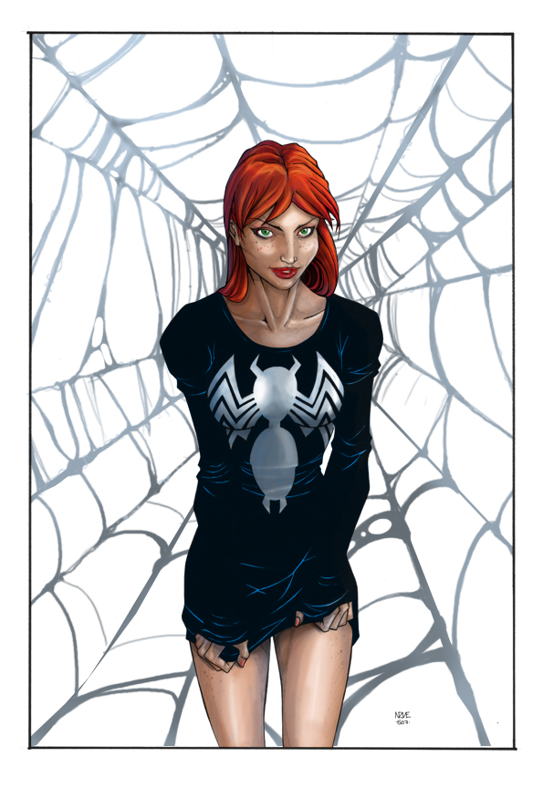 mary jane watson coloring pages - photo#34