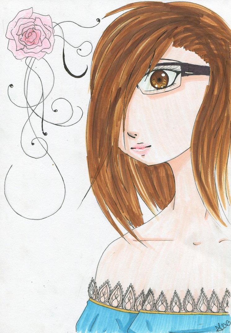 Thats me as Manga by alex-the-rabbit