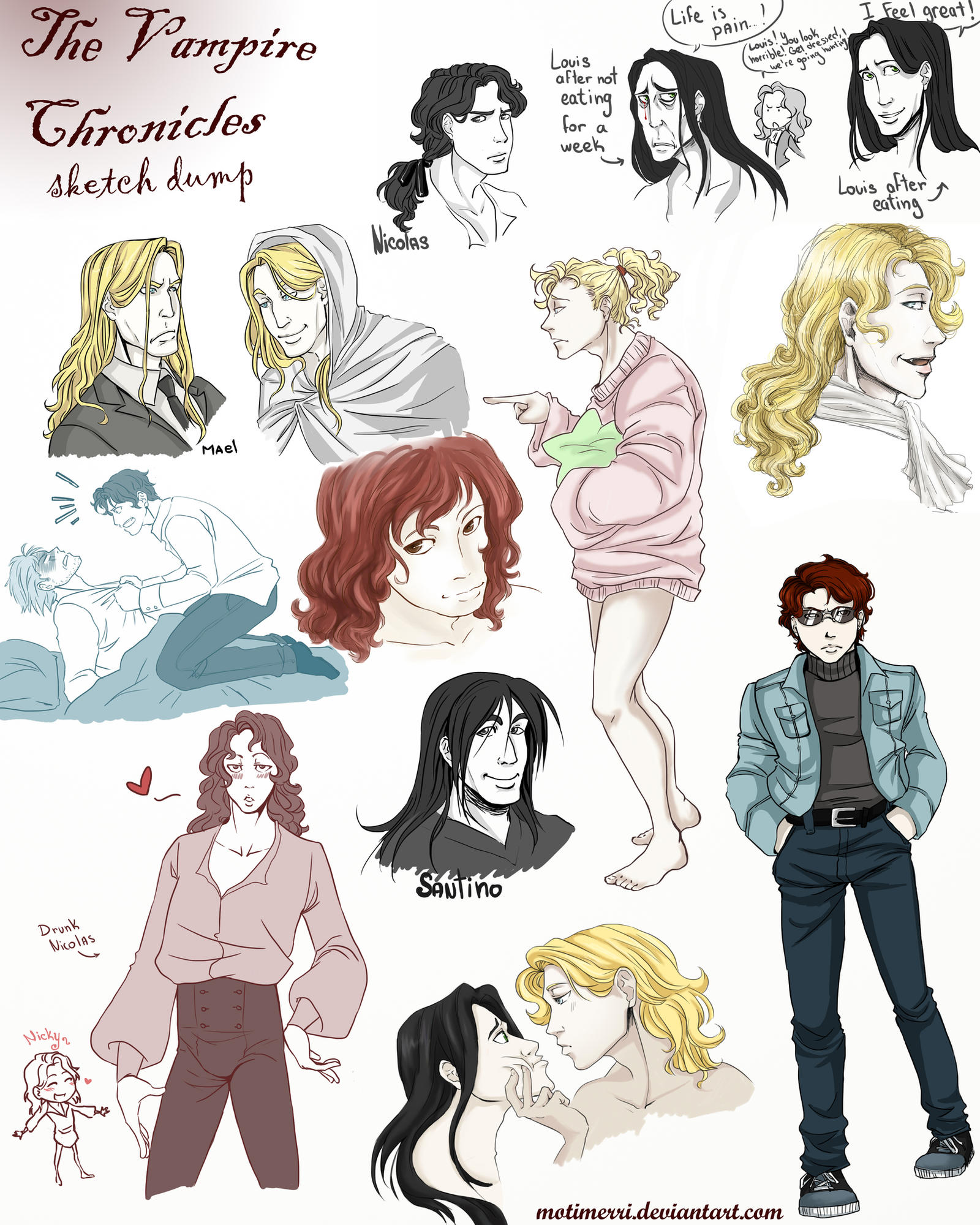 Vampire Chronicles Sketch Dump by Motimerri