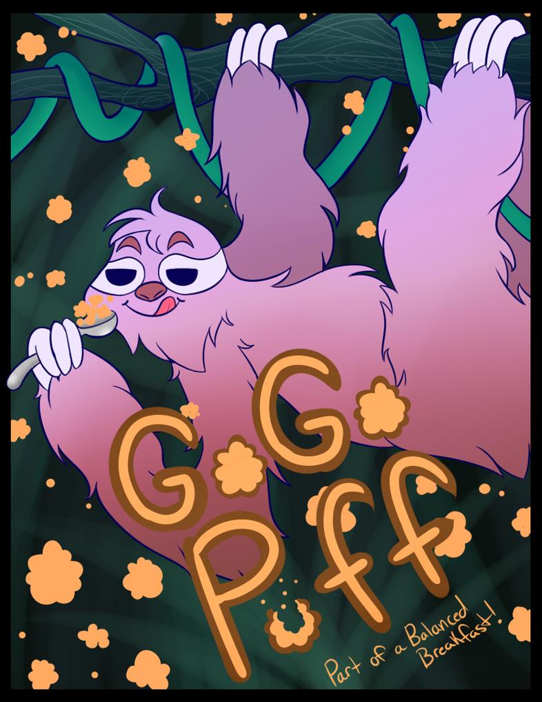 Sloth GOGO puffs by KiraNohara