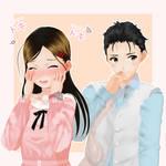 Vroid/MMD Jiro and Aika on pastels (OC's)