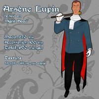 Arsene Lupin 3D Model