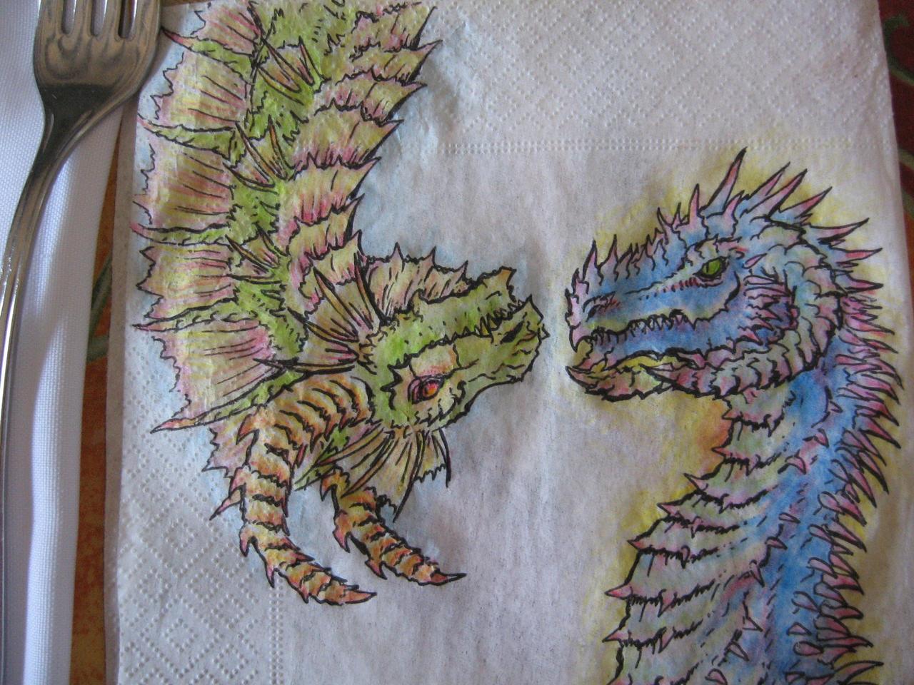 Napkin Dragons by CelebrenIthil