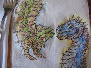 Napkin Dragons