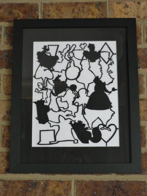 Paper Silhouette Alice in wonderland by Tash15