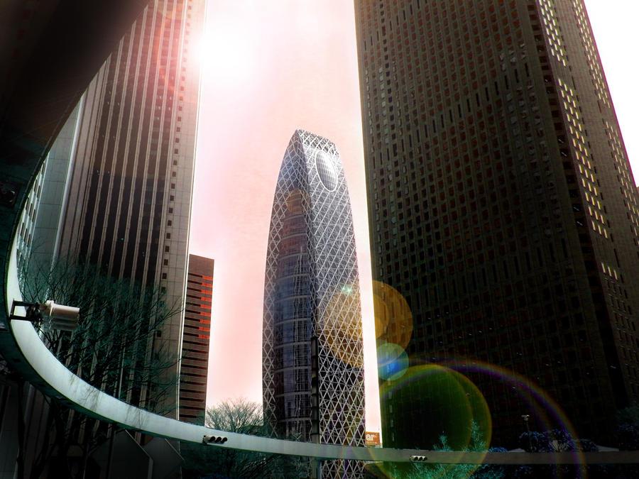 Shinjuku Cocoon Tower by hirolu