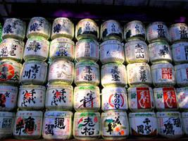 Sake barrels by hirolu