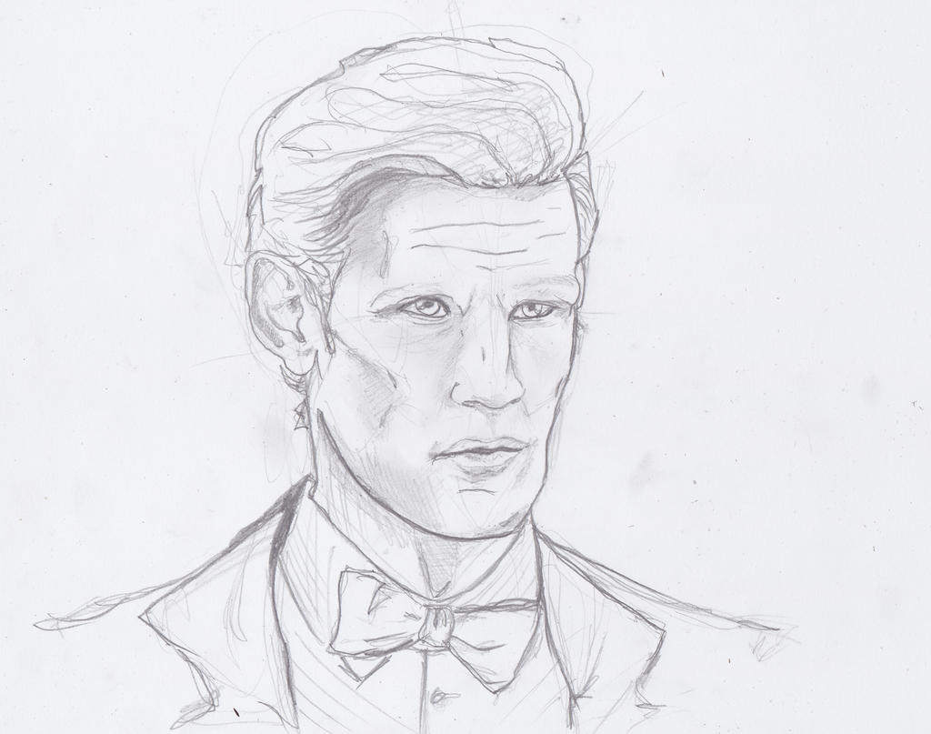 11th Doctor Sketch by Japonka606