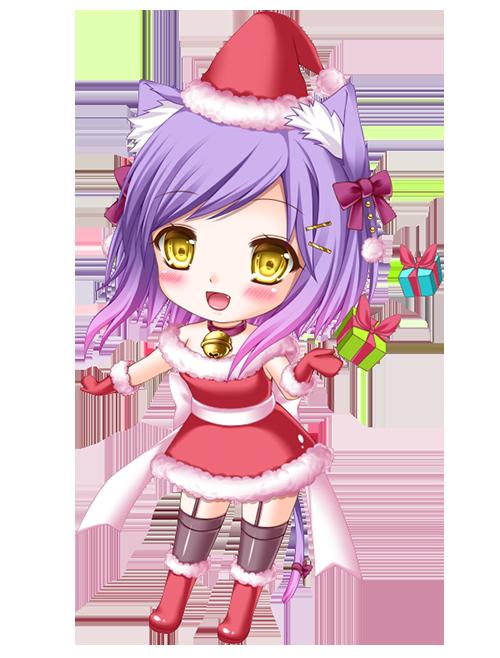 Christmas anime chibi