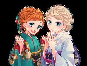 Princess Anna and Elsa