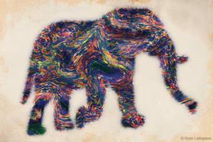 Painted Elephant by RMLstudios