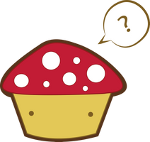 mushroom cupcake by AnniKito