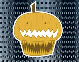 Pumpkin cupcake by AnniKito