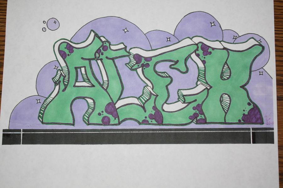 Alex In Graffiti Font