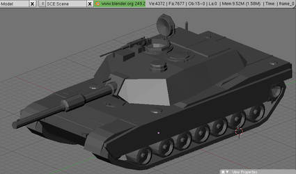 low poly tank m1 abrams