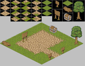 Basic isometric tile set