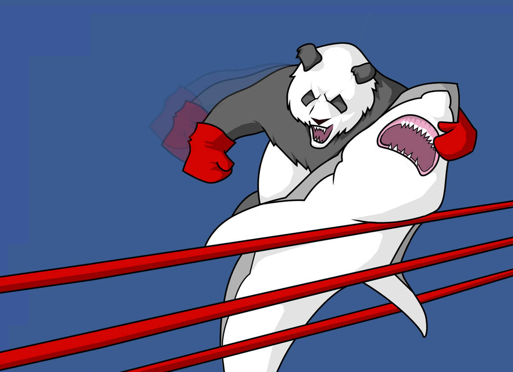 Panda smashing up a Shark