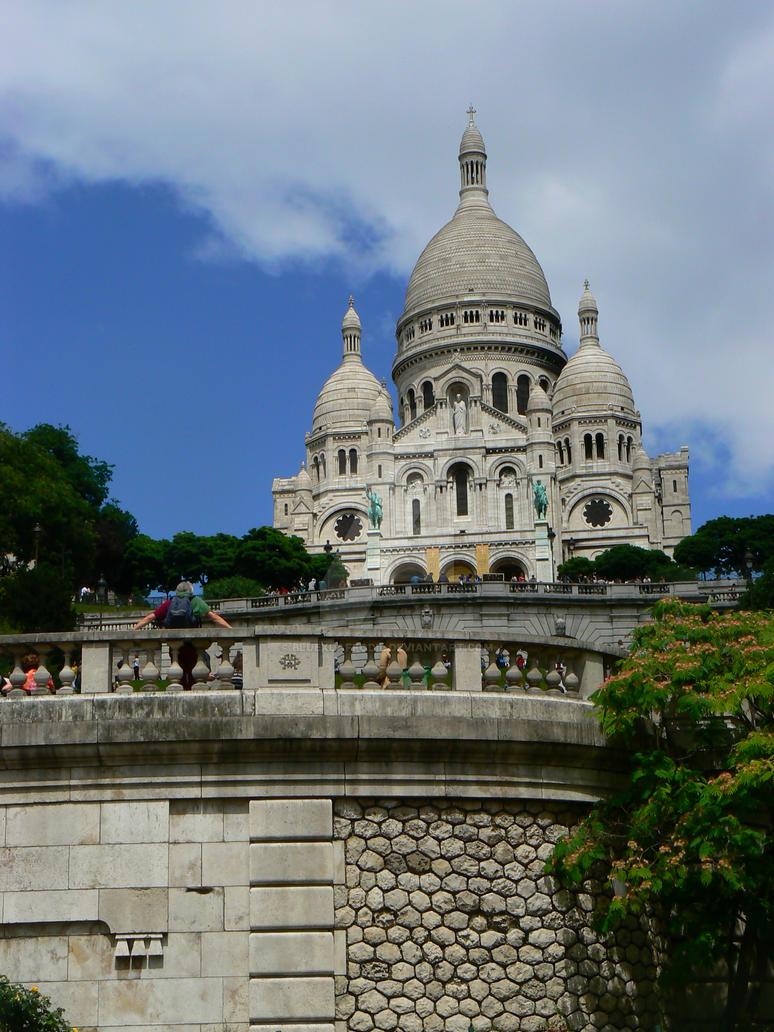 la basilique du sacre coeur de montmartre by bluexdaffodil