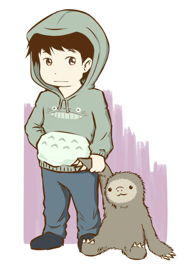 [Avatar] Selfportrait with a sloth by SlothyAmphawa