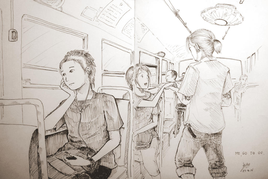 Me on the bus by SlothyAmphawa